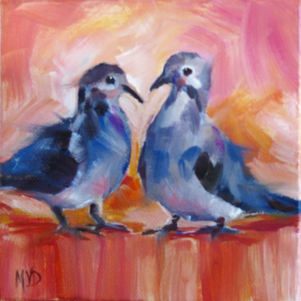 """Dove Love"" original fine art by Mary  Van Deman"