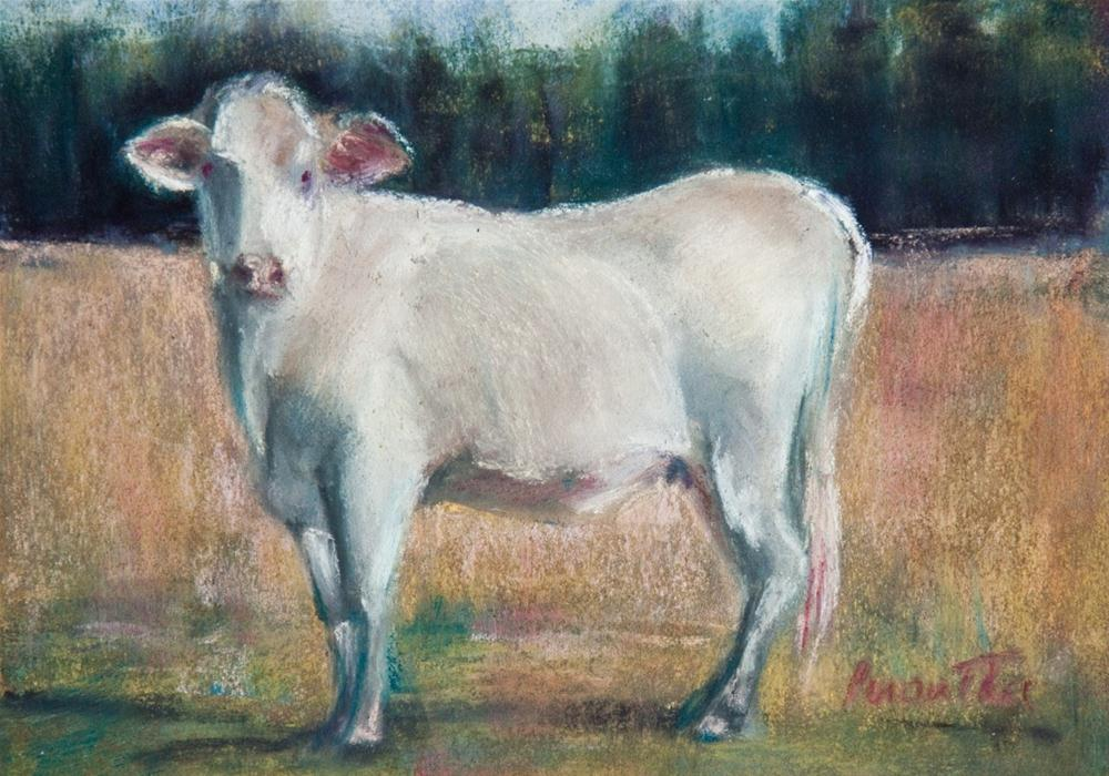 """Proud Cow"" original fine art by Sarah Peroutka"