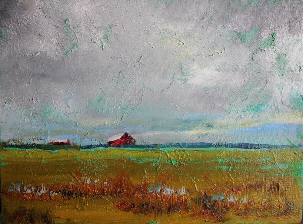 """Montana Barns, Contemporary Landscape Paintings by Amy Whitehouse"" original fine art by Amy Whitehouse"