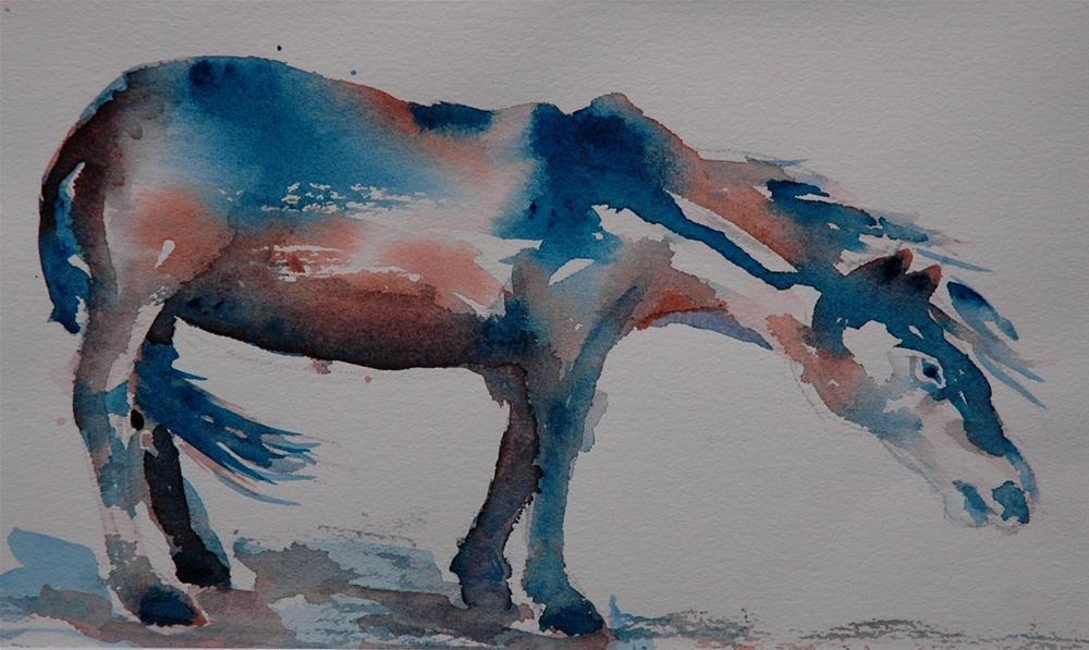 """The Turin Horse"" original fine art by Ulrike Schmidt"