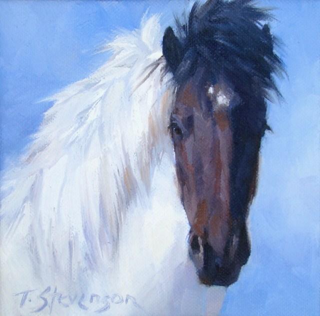 """""""Oskar,The Icelandic"""" original fine art by Trish Stevenson"""