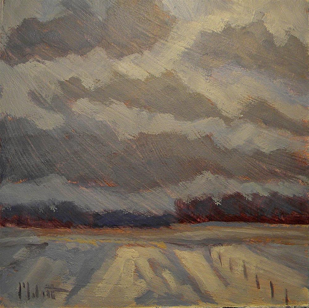 """Snowy Landscape Contemporary Impressionism Heidi Malott"" original fine art by Heidi Malott"