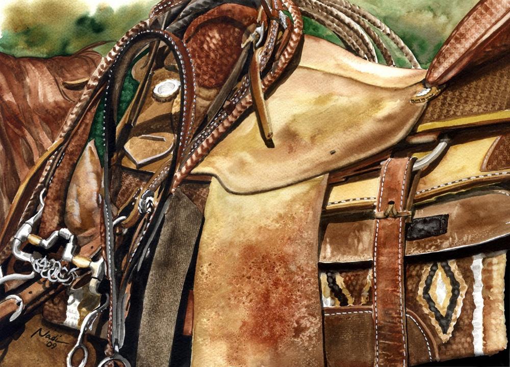 """Saddle Texture"" original fine art by Nadi Spencer"