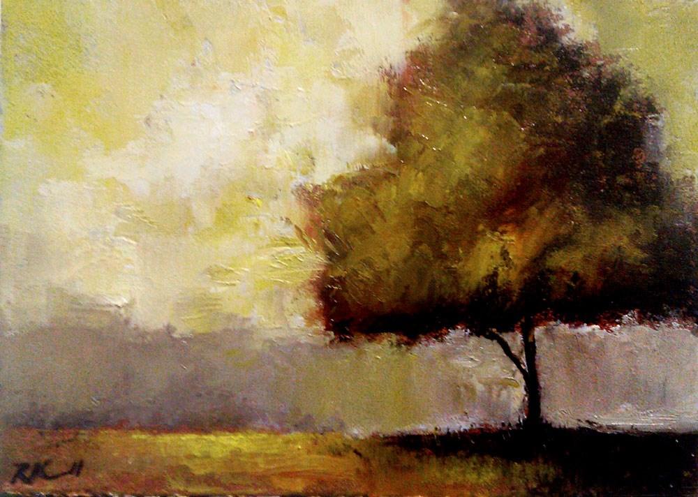 """The Park in January"" original fine art by Bob Kimball"