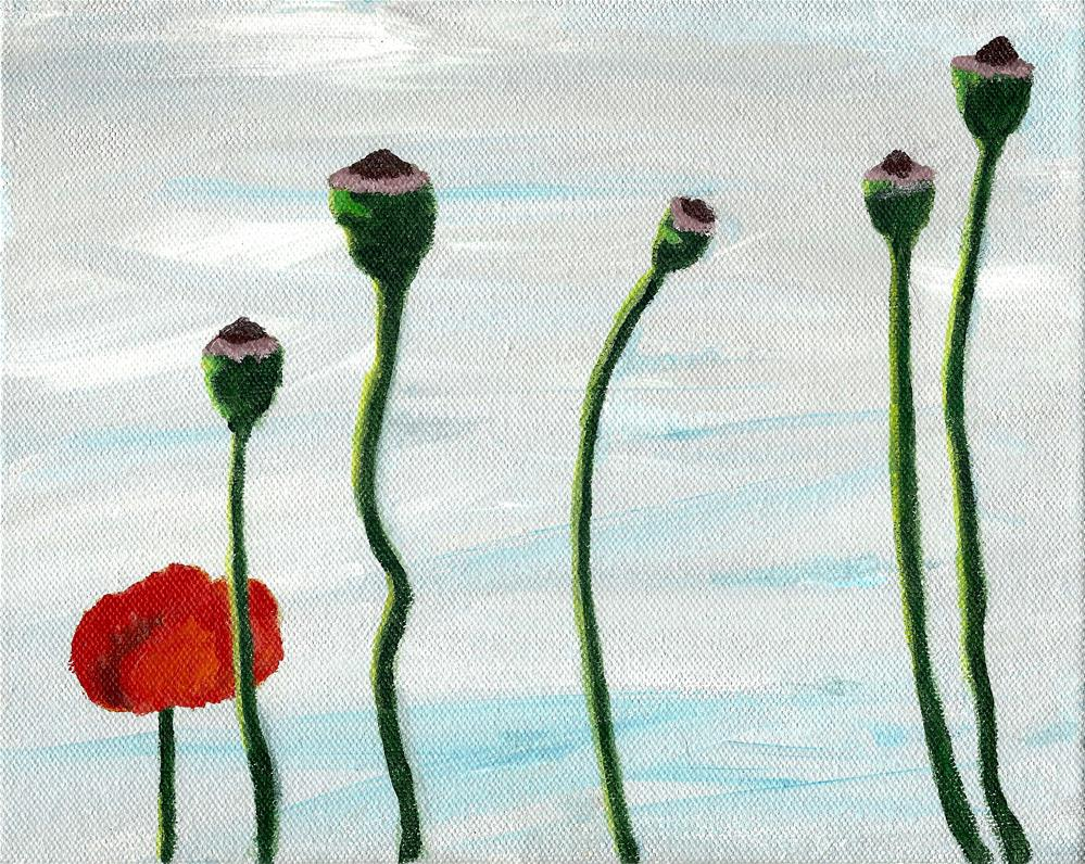 """Poppies"" original fine art by Betsy Cook"