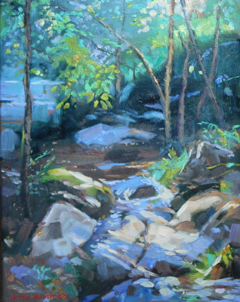 """The Creek"" original fine art by jerry hunsinger"