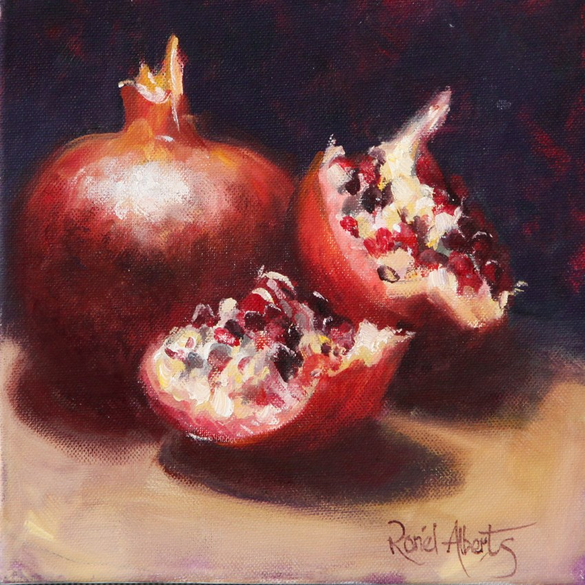 """pomagranites"" original fine art by Ronel Alberts"