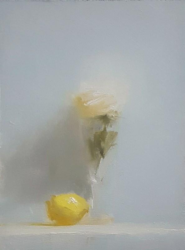 """Rose with Lemon"" original fine art by Neil Carroll"