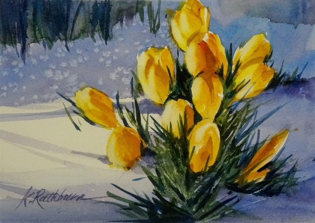 """First Sign of Spring"" original fine art by Kathy Los-Rathburn"