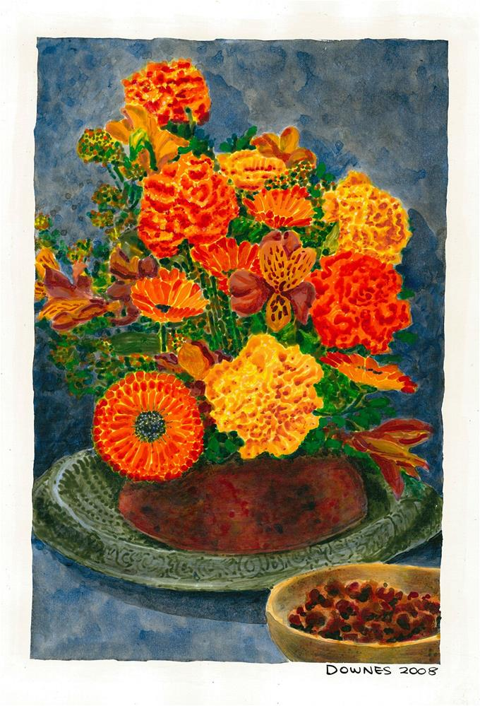 """199 CLASSIC FLOWERS 1"" original fine art by Trevor Downes"