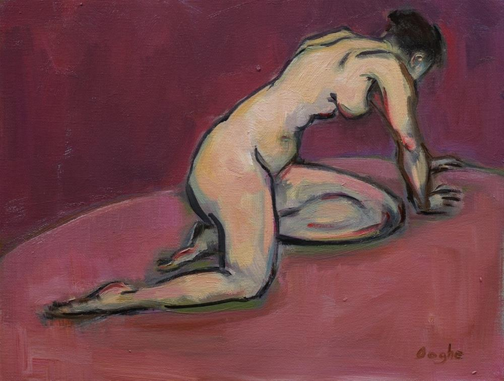 """Nude on Pink"" original fine art by Angela Ooghe"