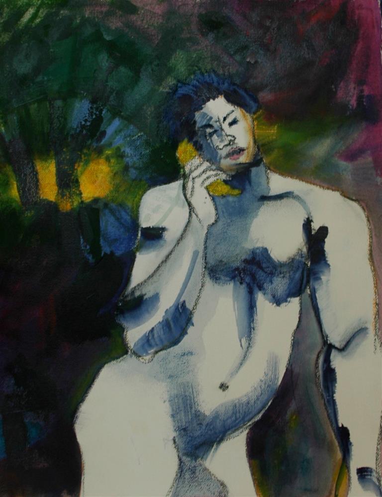 """""""Hello"""" original fine art by Carol Wiley"""