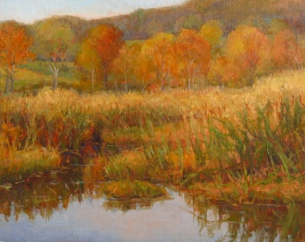 """Autumn Marsh"" original fine art by David Lussier"