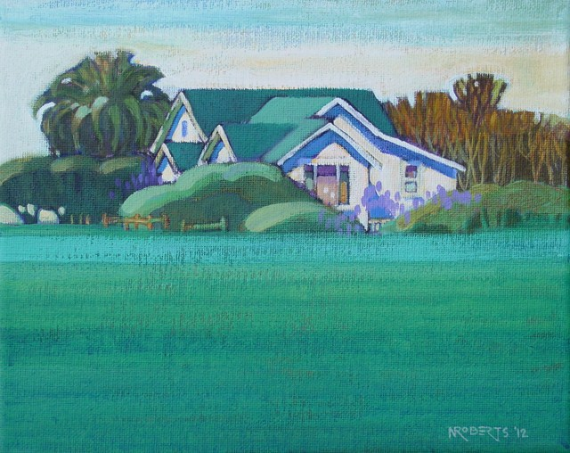 """White House on Sellers"" original fine art by Nancy Roberts"