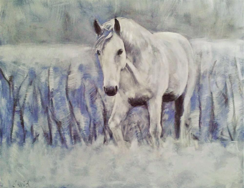"""White on White #2"" original fine art by David Larson Evans"