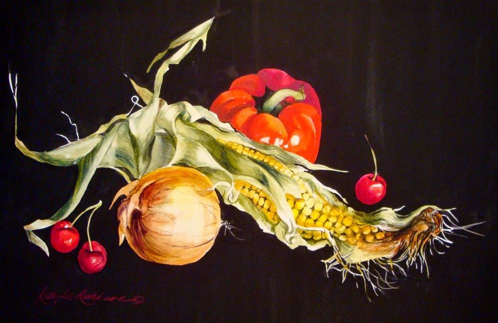 """A Bit Corny"" original fine art by Kathy Los-Rathburn"