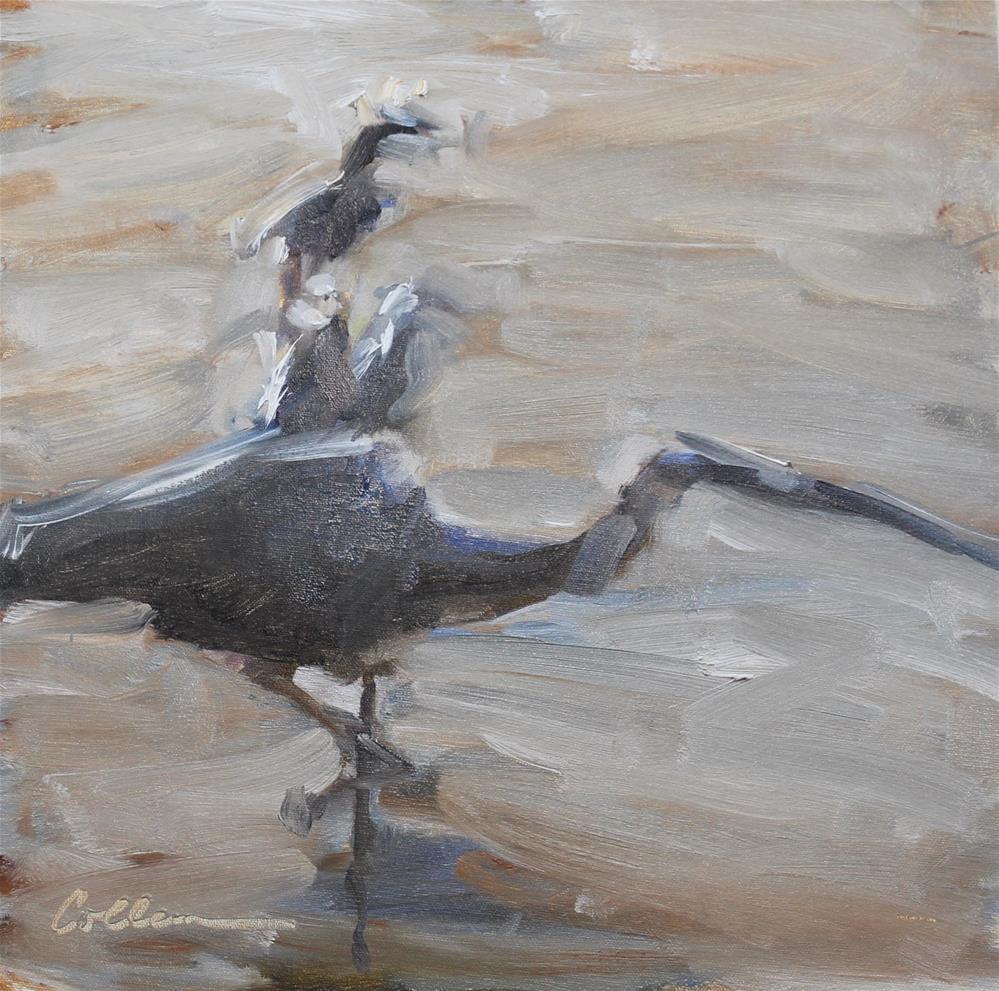 """""""Egret Gesture"""" original fine art by Colleen Parker"""