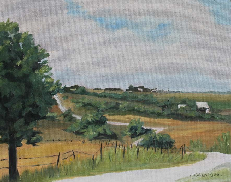 """Swedish Hill view"" original fine art by Susan Andersen"
