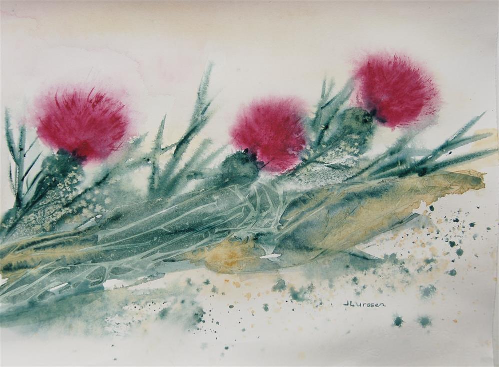 """Thistles III"" original fine art by Jean Lurssen"