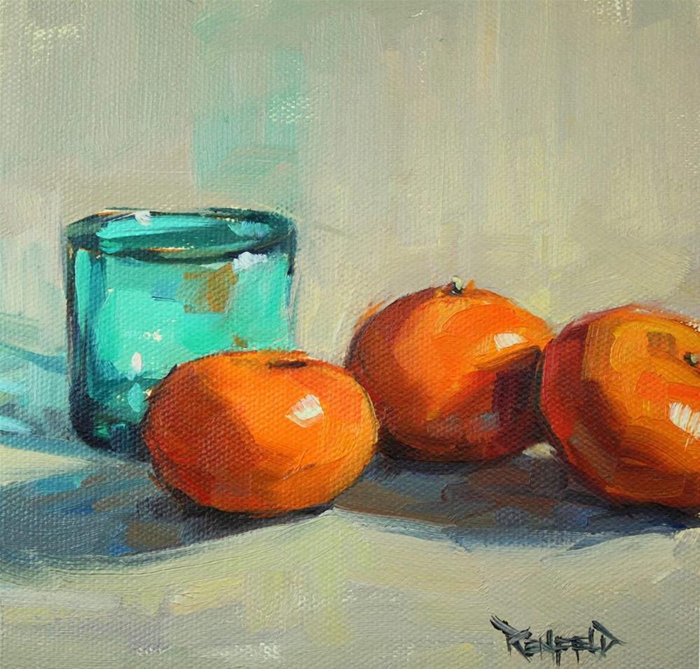 """Three Clementines"" original fine art by Cathleen Rehfeld"