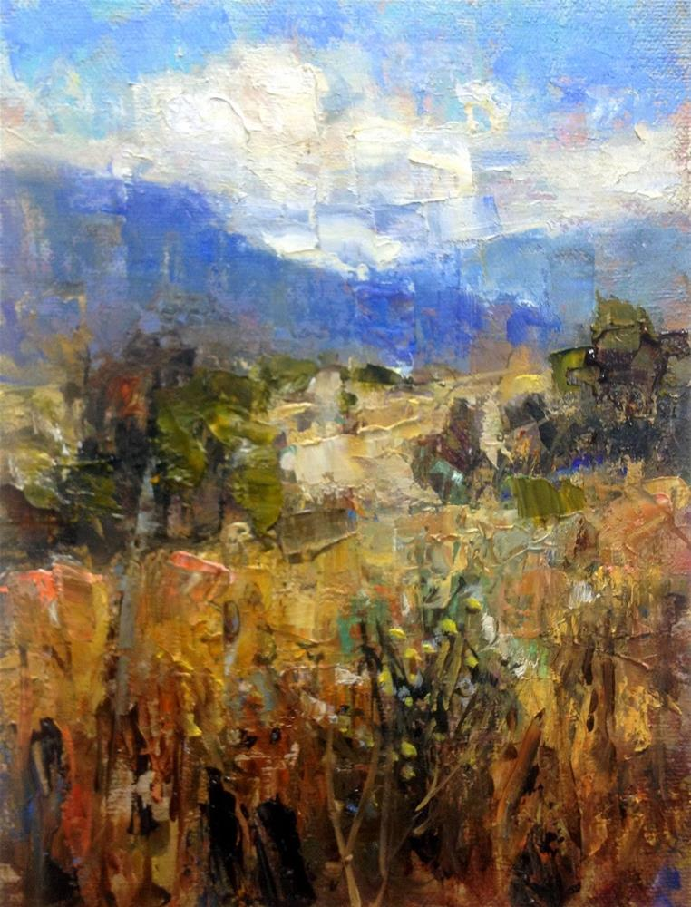 """Blue Mountains - Southern Colorado"" original fine art by Julie Ford Oliver"