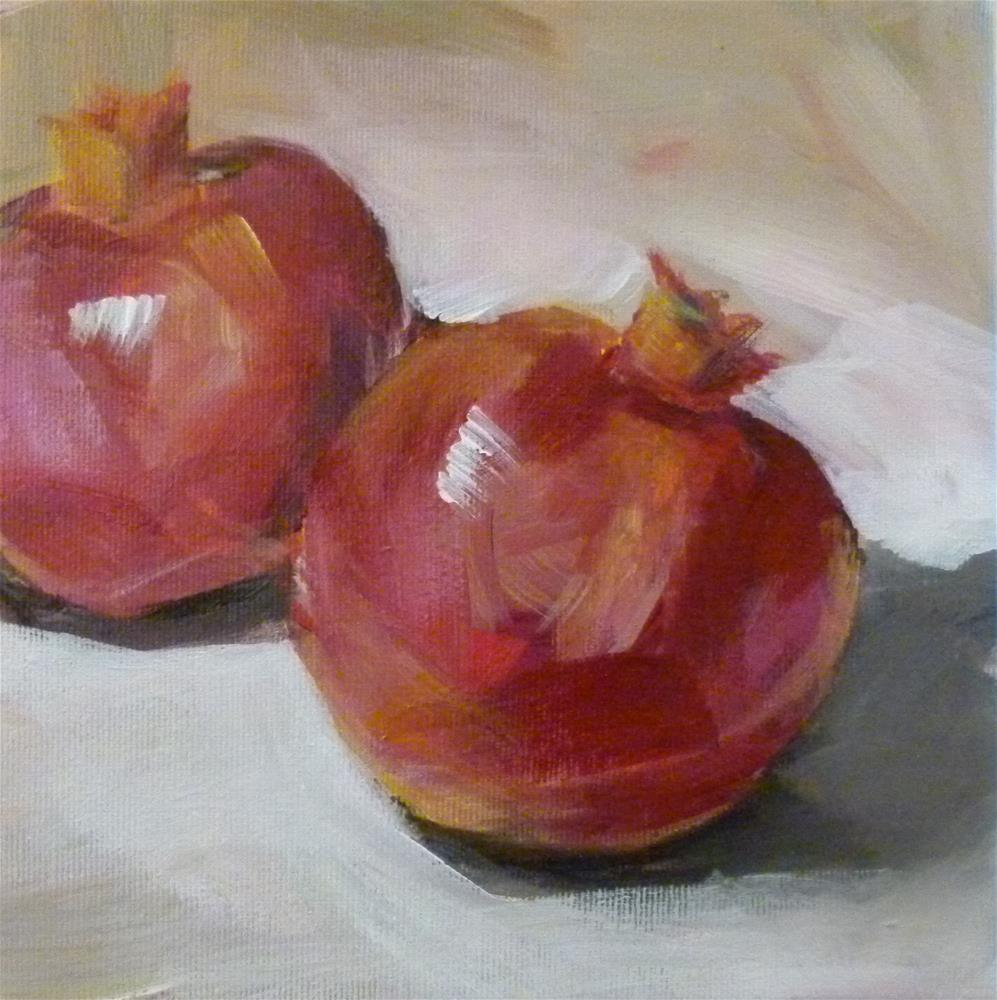 """""""Zwei Granatäpfel"""" original fine art by Sabine Hüning"""
