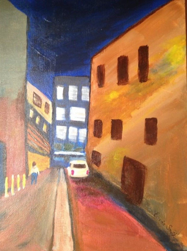 """NYC Alley"" original fine art by Brenda Smith"