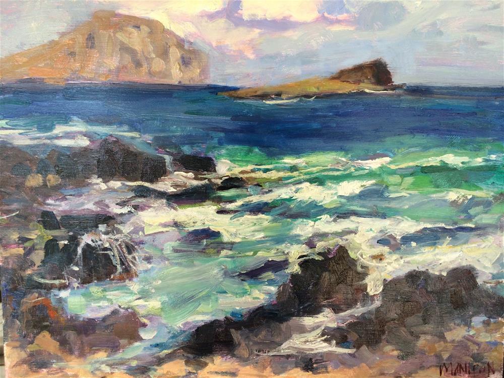 """Makapu'u Beach"" original fine art by Yvonne Manipon"
