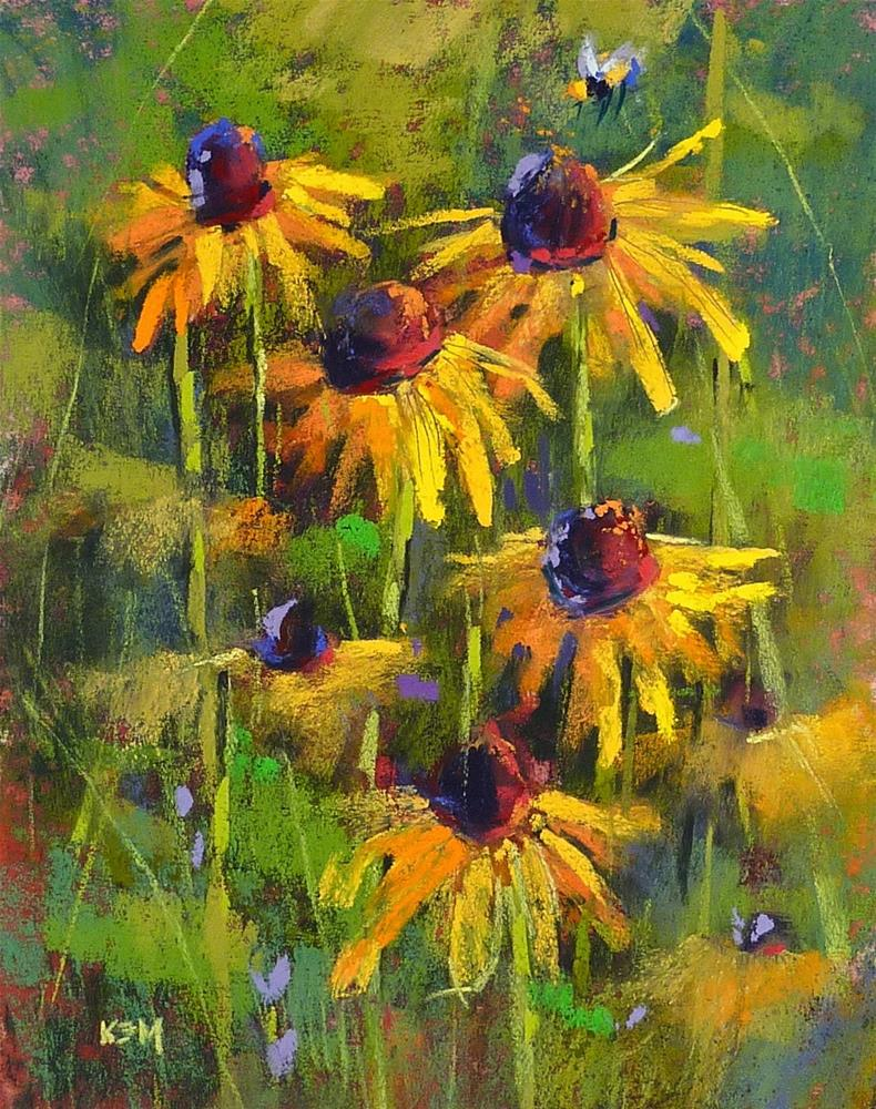 """Why Learning to Paint is a Lot Like Gardening"" original fine art by Karen Margulis"