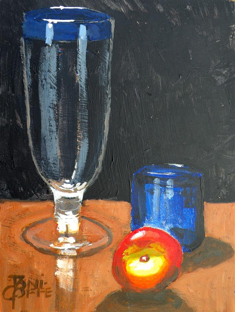"""Apple Juice?"" original fine art by Toni Goffe"