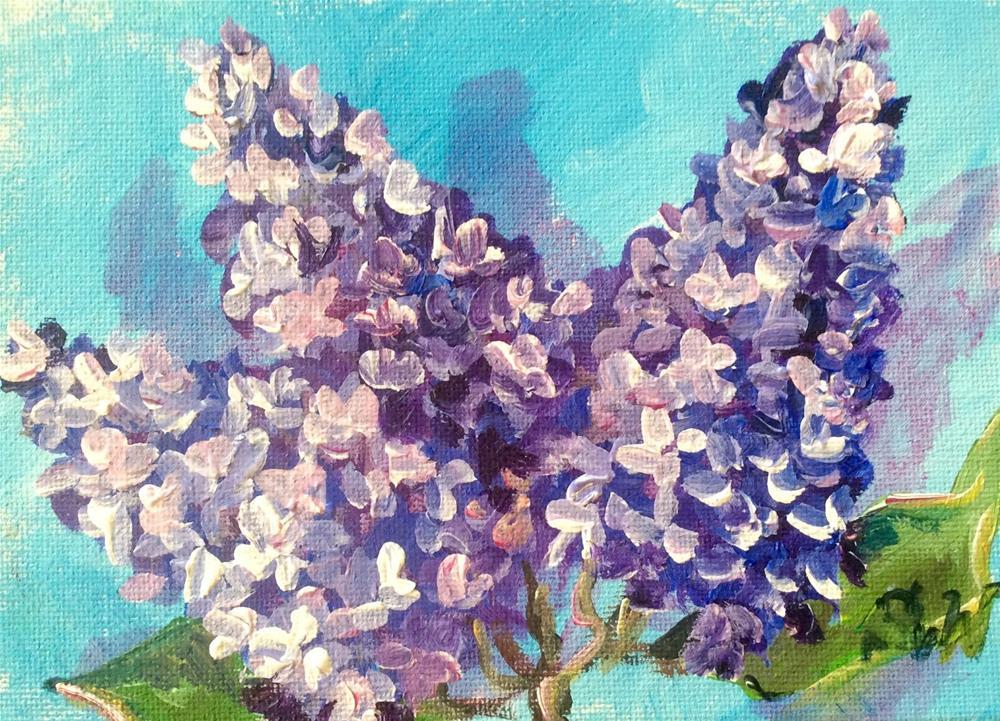 """Lilacs rapsody"" original fine art by Sonia von Walter"