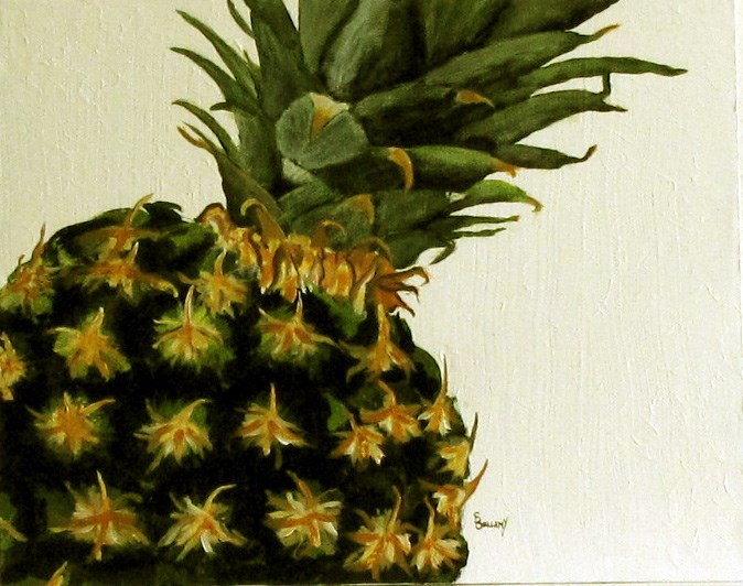 """Pineapple!"" original fine art by Sherry Bellamy"