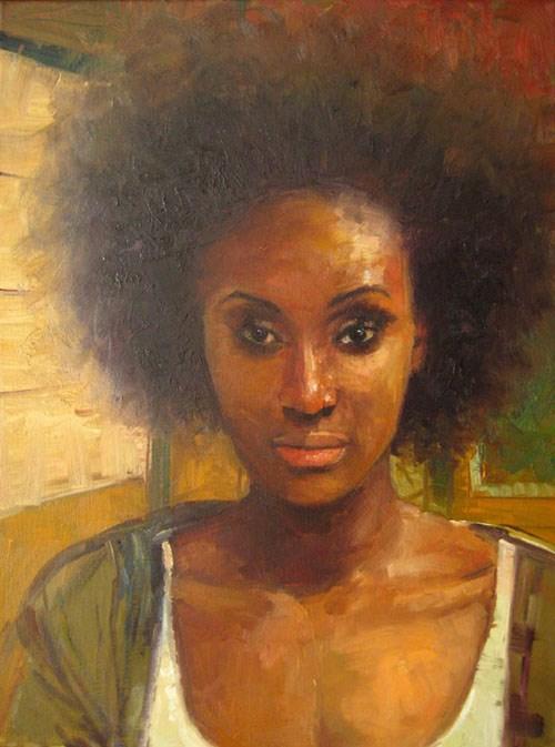 """""""AFRO XXVI"""" original fine art by Adebanji Alade"""