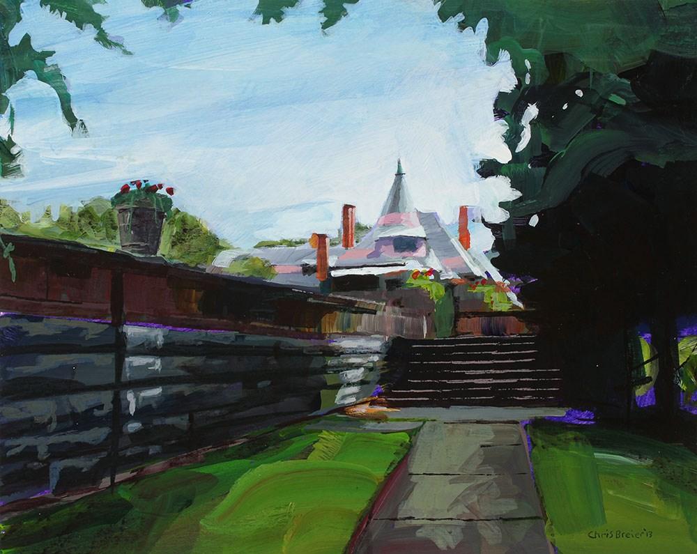 """Sonenberg Mansion"" original fine art by Chris  Breier"