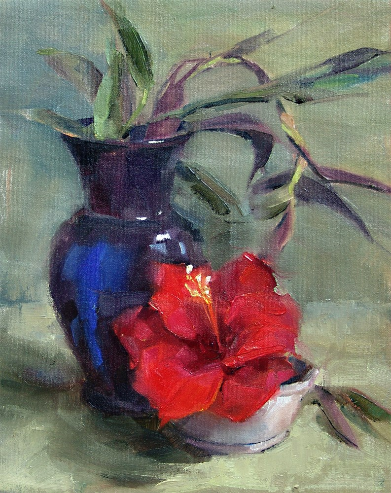 """The Cobalt Vase"" original fine art by Barbara Schilling"