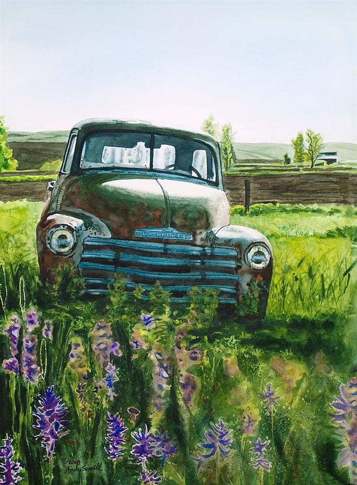"""Chevy spring"" original fine art by Andy Sewell"