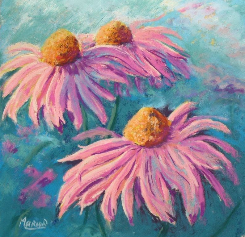 """Dancing Rudbeckias by Marion Hedger"" original fine art by Marion Hedger"