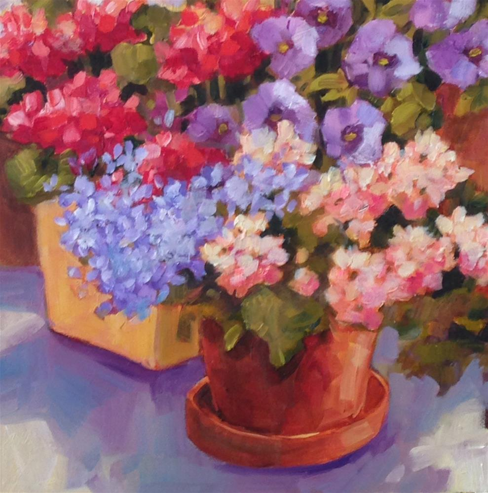 """Patio Party"" original fine art by Libby Anderson"