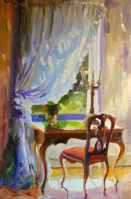 """""""LA BUREAU II"""" original fine art by Cecilia Rosslee"""