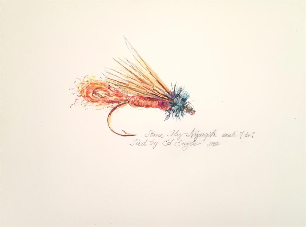 """Stonefly Nymph"" original fine art by Jean Krueger"