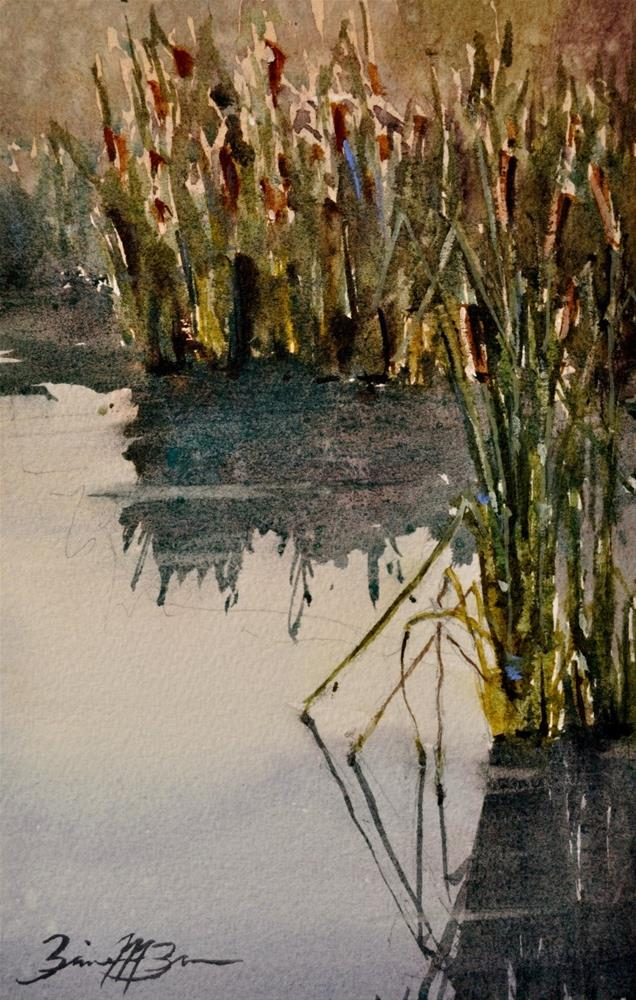 """Reeds"" original fine art by Brienne M Brown"