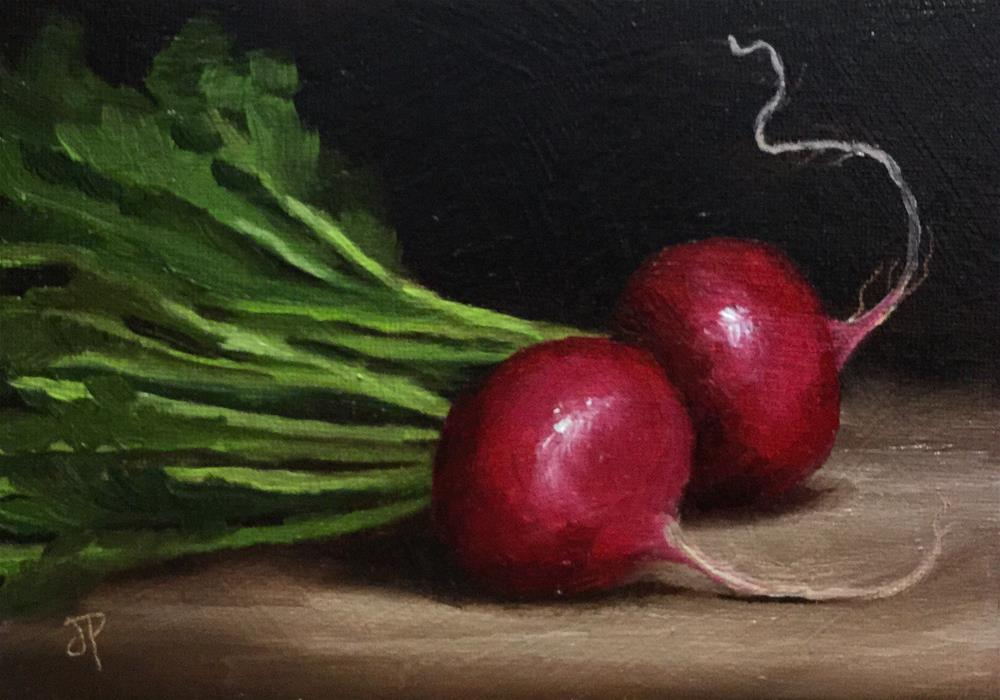 """two Radishes"" original fine art by Jane Palmer"