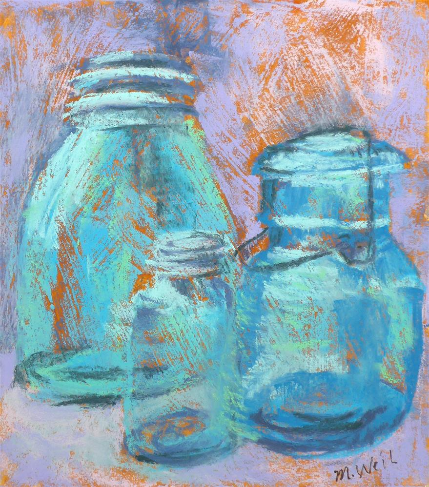 """Fun Jars 2"" original fine art by Mary Weil"