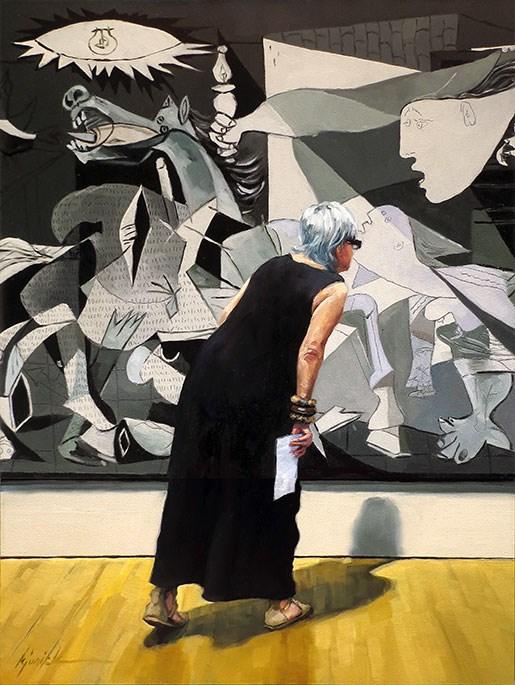 """Lean In"" original fine art by Karin Jurick"