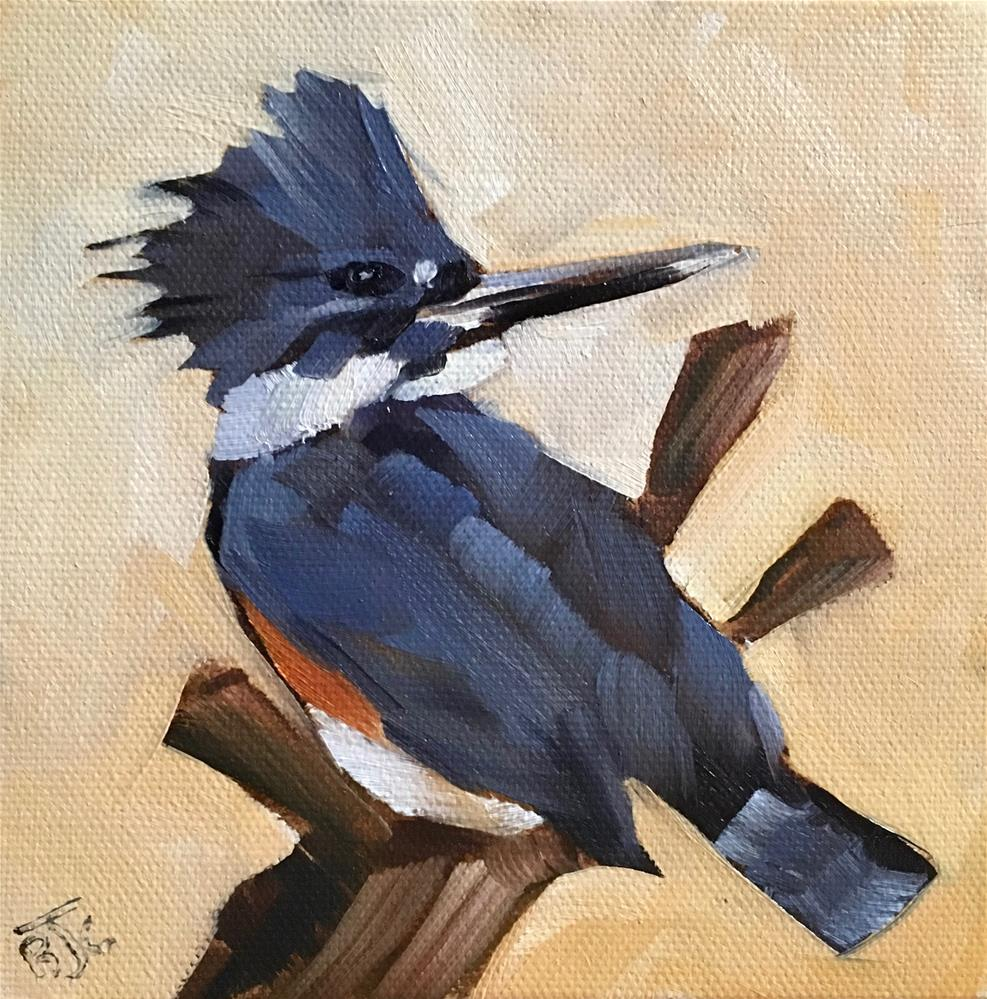 """Female Kingfisher"" original fine art by Bobbie Cook"