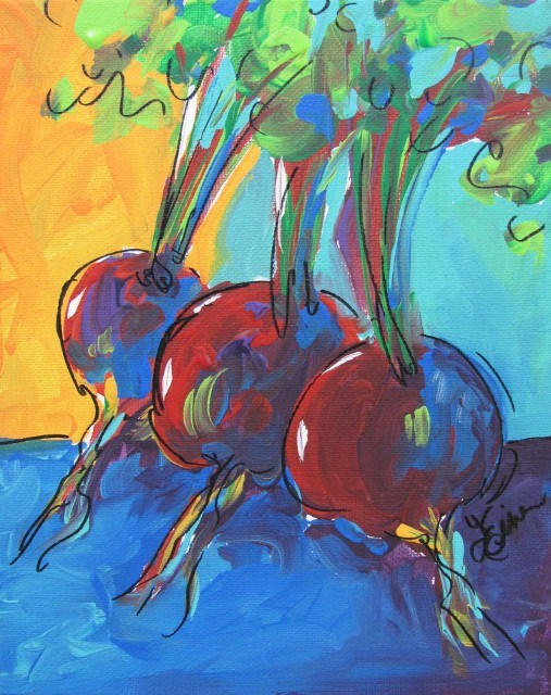 """30 Paintings in 30 Days-Day 20-Beets Me"" original fine art by Terri Einer"