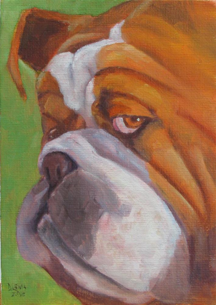"""Bruno"" original fine art by Christine Lewis"