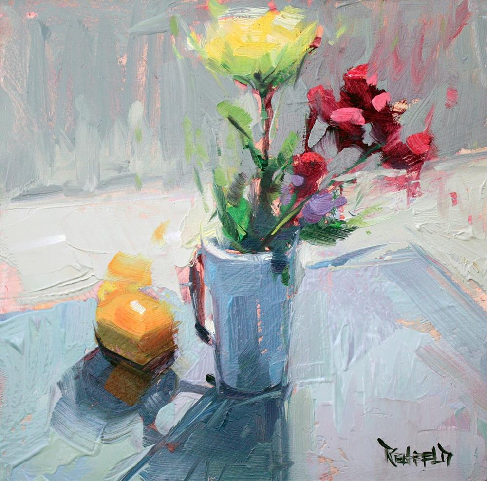 """Class Demo Flowers"" original fine art by Cathleen Rehfeld"