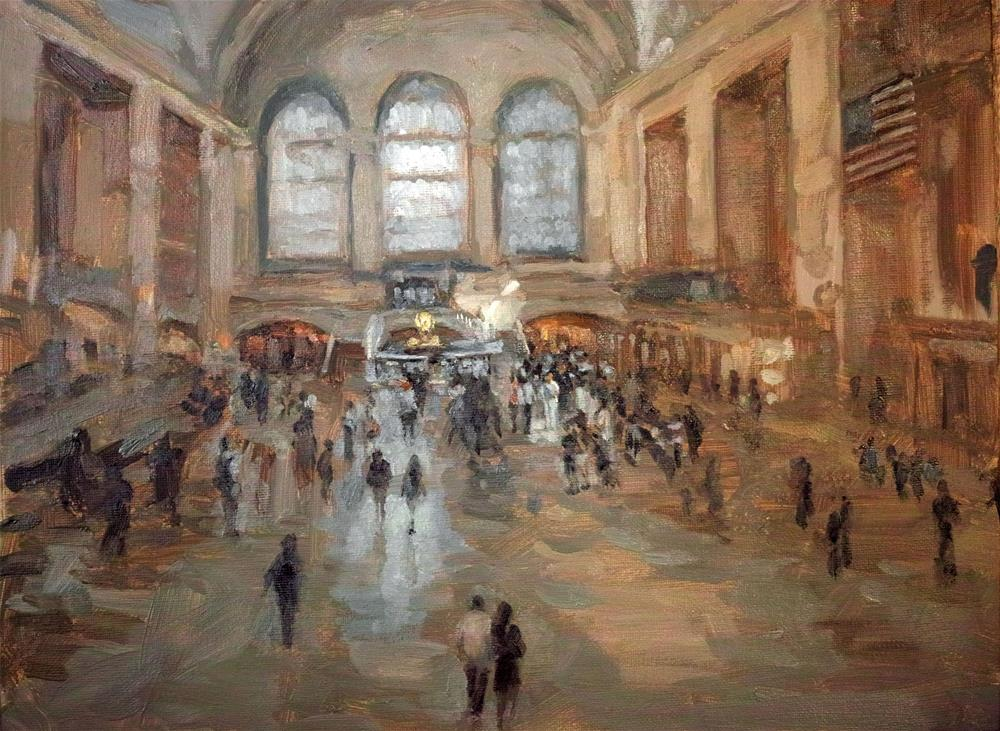 """New-York-Grand-Central-Station"" original fine art by Yuehua He"