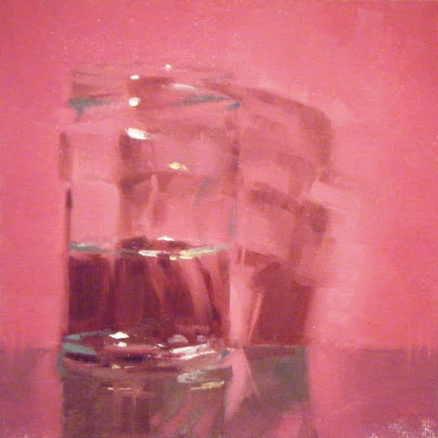 """ROSE COLOURED GLASS"" original fine art by Helen Cooper"
